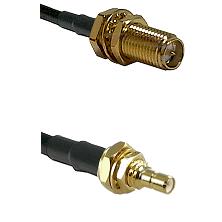SMA Reverse Polarity Female Bulkhead on LMR200 to SSMB Male Bulkhead Cable Assembly