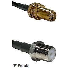 SMA Reverse Polarity Female Bulkhead Connector On LMR-240UF UltraFlex To F Female Connector Coaxial