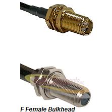SMA Reverse Polarity Female Bulkhead Connector On LMR-240UF UltraFlex To F Female Bulkhead Connector