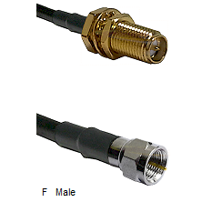 SMA Reverse Polarity Female Bulkhead Connector On LMR-240UF UltraFlex To F Male Connector Coaxial Ca