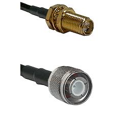 SMA Reverse Polarity Female Bulkhead Connector On LMR-240UF UltraFlex To HN Male Connector Coaxial C