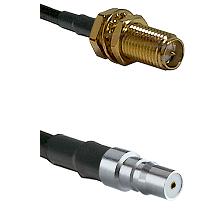 SMA Reverse Polarity Female Bulkhead on LMR240 Ultra Flex to QMA Female Cable Assembly