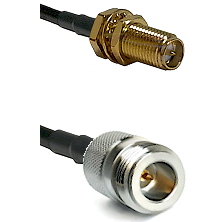 SMA Reverse Polarity Female Bulkhead on LMR240 Ultra Flex to N Reverse Polarity Female Coaxial Cable