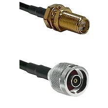 SMA Reverse Polarity Female Bulkhead on LMR240 Ultra Flex to N Reverse Polarity Male Coaxial Cable A