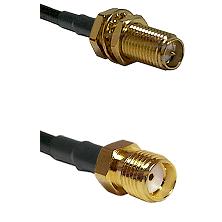 SMA Reverse Polarity Female Bulkhead Connector On LMR-240UF UltraFlex To SMA Reverse Thread Female C
