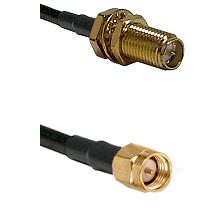 SMA Reverse Polarity Female Bulkhead on LMR240 Ultra Flex to SMA Reverse Thread Male Coaxial Cable A