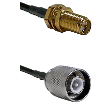 SMA Reverse Polarity Female Bulkhead Connector On LMR-240UF UltraFlex To SC Male Connector Coaxial C