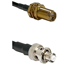 SMA Reverse Polarity Female Bulkhead Connector On LMR-240UF UltraFlex To SHV Plug Connector Coaxial