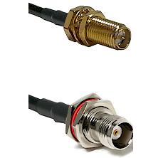 SMA Reverse Polarity Female Bulkhead on LMR240 Ultra Flex to TNC Female Bulkhead Coaxial Cable Assem