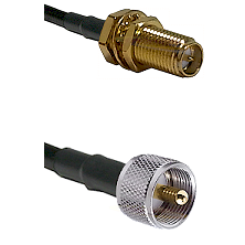 SMA Reverse Polarity Female Bulkhead on LMR240 Ultra Flex to UHF Male Cable Assembly