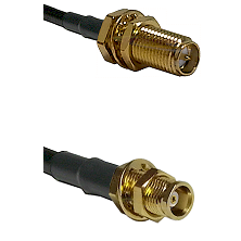 SMA Reverse Polarity Female Bulkhead on RG142 to MCX Female Bulkhead Cable Assembly