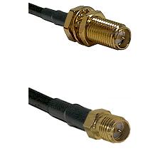 SMA Reverse Polarity Female Bulkhead on RG142 to SMA Reverse Polarity Female Cable Assembly