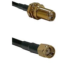 SMA Reverse Polarity Female Bulkhead on RG142 to SMA Reverse Polarity Male Cable Assembly