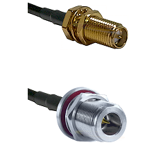 SMA Reverse Polarity Female Bulkhead on RG316 to N Reverse Polarity Female Bulkhead Coaxial Cable As