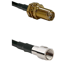 SMA Reverse Polarity Female Bulkhead on RG400 to FME Male Cable Assembly