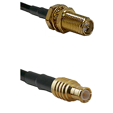 SMA Reverse Polarity Female Bulkhead on RG400 to MCX Male Cable Assembly