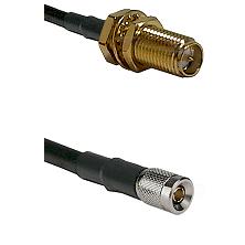 SMA Reverse Polarity Female Bulkhead on RG58C/U to 10/23 Male Cable Assembly