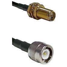 SMA Reverse Polarity Female Bulkhead on RG58C/U to C Male Cable Assembly