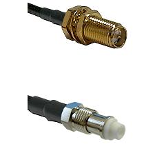 SMA Reverse Polarity Female Bulkhead on RG58C/U to FME Female Cable Assembly