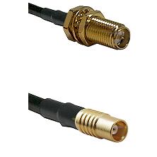 SMA Reverse Polarity Female Bulkhead on RG58C/U to MCX Female Cable Assembly