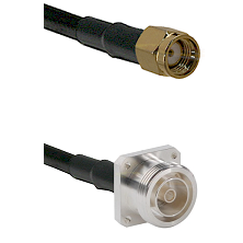 SMA Reverse Polarity Male on Belden 83242 RG142 to 7/16 4 Hole Female Cable Assembly