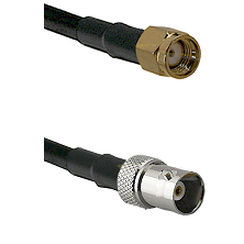 SMA Reverse Polarity Male on LMR100 to BNC Female Cable Assembly
