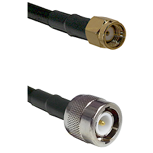 SMA Reverse Polarity Male on LMR100 to C Male Cable Assembly