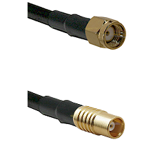 SMA Reverse Polarity Male on LMR100 to MCX Female Cable Assembly