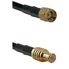 SMA Reverse Polarity Male on LMR100 to MCX Male Cable Assembly