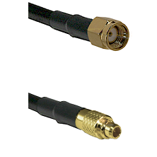 SMA Reverse Polarity Male on LMR100 to MMCX Male Cable Assembly