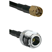 SMA Reverse Polarity Male on LMR100 to N Female Cable Assembly