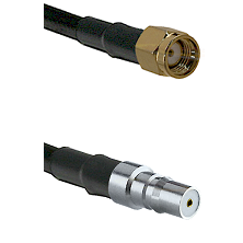 SMA Reverse Polarity Male on LMR100 to QMA Female Cable Assembly