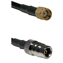 SMA Reverse Polarity Male on LMR-195-UF UltraFlex to QN Female Cable Assembly