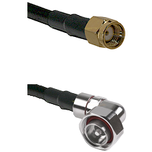 SMA Reverse Polarity Male on LMR-195-UF UltraFlex to 7/16 Din Right Angle Male Coaxial Cable Assembl