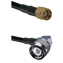 SMA Reverse Polarity Male on LMR-195-UF UltraFlex to C Right Angle Male Cable Assembly