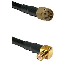 Reverse Polarity SMA Male To Right Angle MCX Male Connectors LMR-195-UF UltraFlex Custom Coax