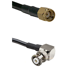 SMA Reverse Polarity Male on LMR-195-UF UltraFlex to MHV Right Angle Male Cable Assembly