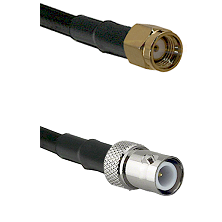 SMA Reverse Polarity Male on LMR-195-UF UltraFlex to BNC Reverse Polarity Female Coaxial Cable Assem