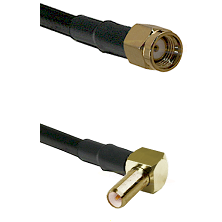 SMA Reverse Polarity Male on LMR-195-UF UltraFlex to SLB Right Angle Male Cable Assembly