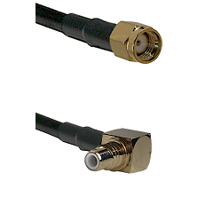 SMA Reverse Polarity Male on LMR-195-UF UltraFlex to SMC Right Angle Male Cable Assembly