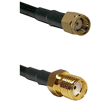 SMA Reverse Polarity Male on LMR195 to SMA Reverse Thread Female Cable Assembly