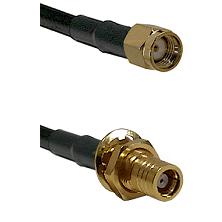 Reverse Polarity SMA Male To SMB Female Bulk Head Connectors LMR-195-UF UltraFlex Custom Coax