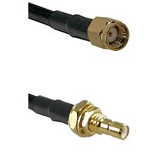 SMA Reverse Polarity Male on LMR-195-UF UltraFlex to SMB Male Bulkhead Cable Assembly
