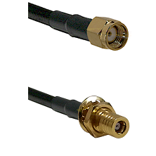 SMA Reverse Polarity Male on LMR195 to SSMB Female Bulkhead Cable Assembly