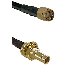 SMA Reverse Polarity Male on LMR200 UltraFlex to 10/23 Female Bulkhead Cable Assembly