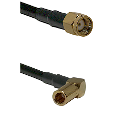 SMA Reverse Polarity Male on LMR200 UltraFlex to SLB Right Angle Female Cable Assembly