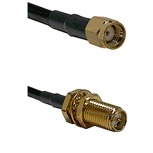 SMA Reverse Polarity Male on LMR240 Ultra Flex to SMA Reverse Polarity Female Bulkhead Coaxial Cable