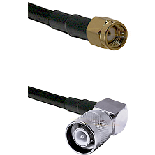 SMA Reverse Polarity Male Connector On LMR-240UF UltraFlex To SC Right Angle Male Connector Coaxial