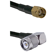 Reverse Polarity SMA Male To Right Angle TNC Male Connectors LMR240UF Ultra Flex Custom Coaxia