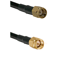 SMA Reverse Polarity Male Connector On LMR-240UF UltraFlex To SMA Reverse Thread Male Connector Coax